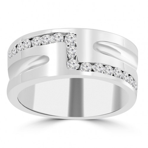 0.65 ct Men's Round Cut Diamond Wedding Band in Channel Setting