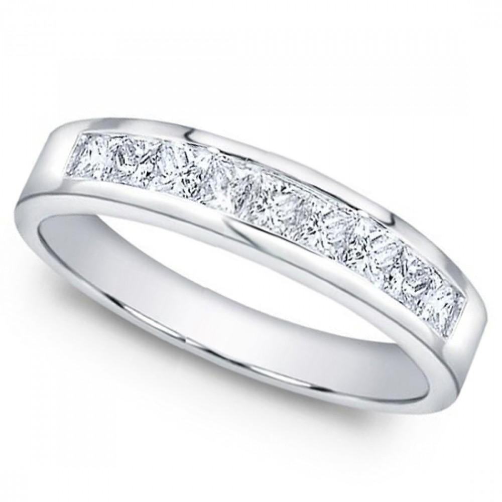 1 00 ct Men s Princess Cut Diamond Wedding Band Ring In Channel Setting
