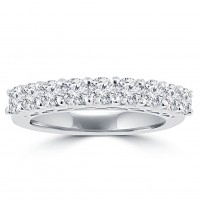 1.20 ct Round Cut Diamond Wedding Band Ring in Prong Setting