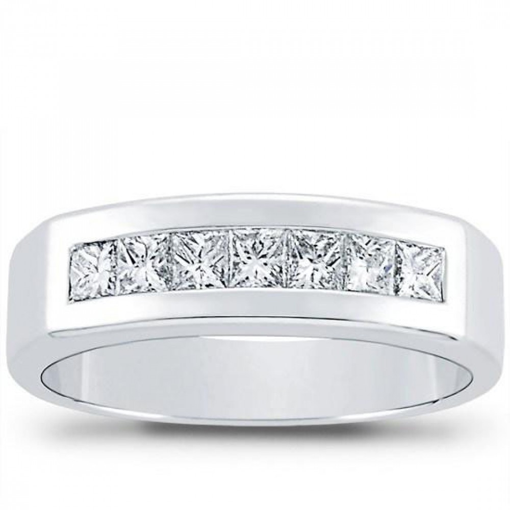 100 ct Mens Princess Cut Diamond Wedding Band ring