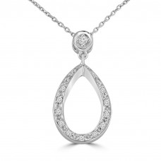 0.33 Ct Ladies Round Cut Diamond Pendant / Necklace