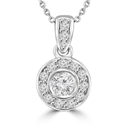 0.41 Ct Ladies Round Cut Diamond Solitaire Pendant