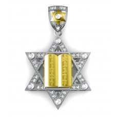 1.50 ct t.w. Round Cut Diamond Star of David Pendant