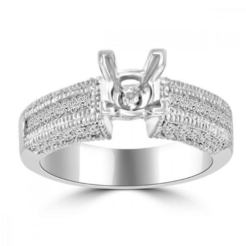 1.00 ct Ladies Princess Cut Diamond Semi Mount Ring