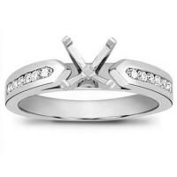 1.00 ct Ladies Round Cut Diamond Semi Mount Engagement Ring