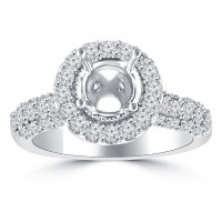 2.00 Ct Round Cut Diamond Semi Mounting Engagement Ring