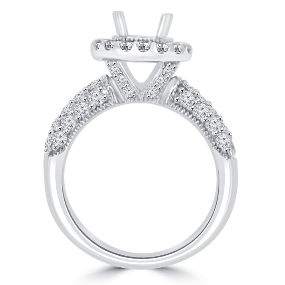 ct round cut diamond semi mounting engagement ring