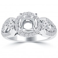 1.00 Ct Round Cut Diamond Semi Mounting Engagement Ring