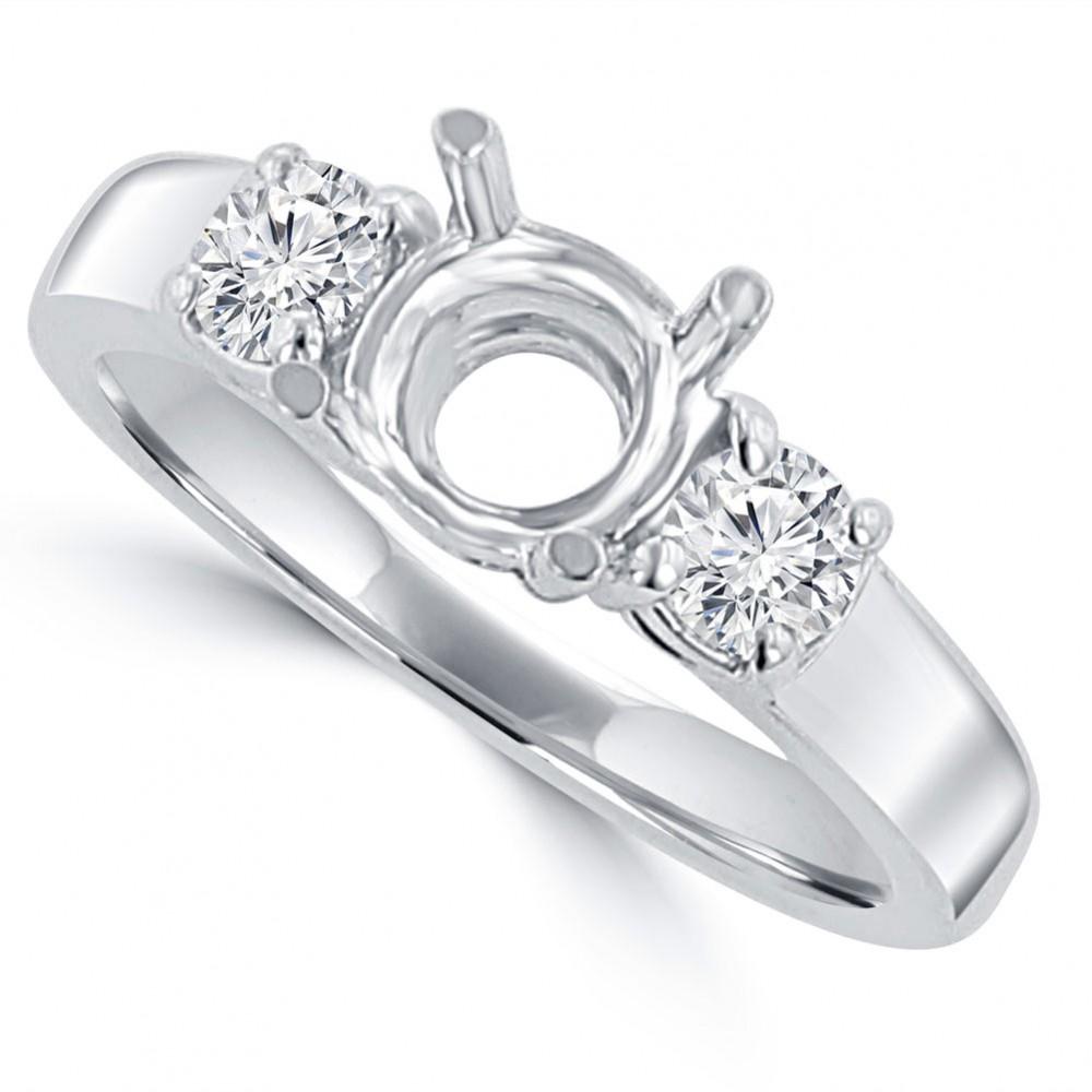 0.60 ct Ladies Round Cut Diamond Semi Mounting Engagement