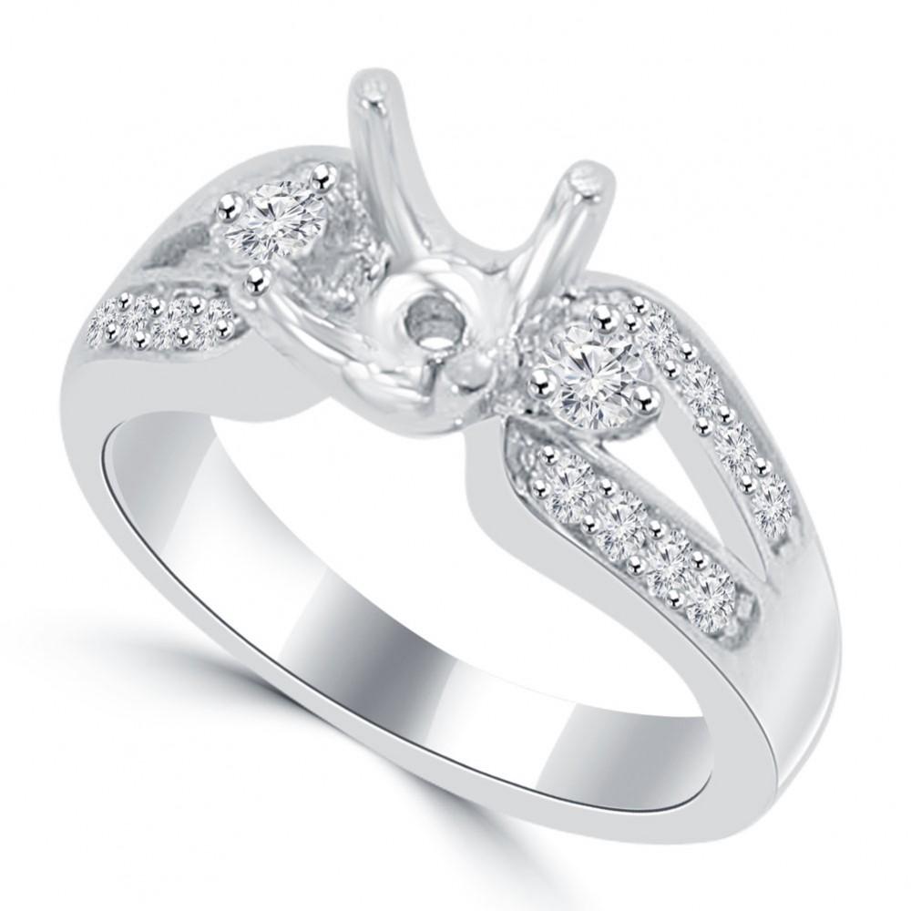 0 60 Ct Round Cut Diamond Semi Mounting Engagement Ring
