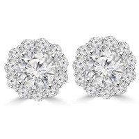 2.05 Ct Ladies Round Cut Diamond Stud Earring In 14 kt White Gold
