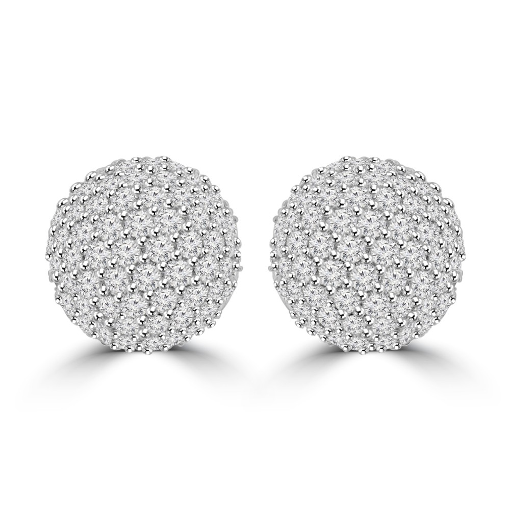 rose cut picture studs of nigaam gold diamond ball