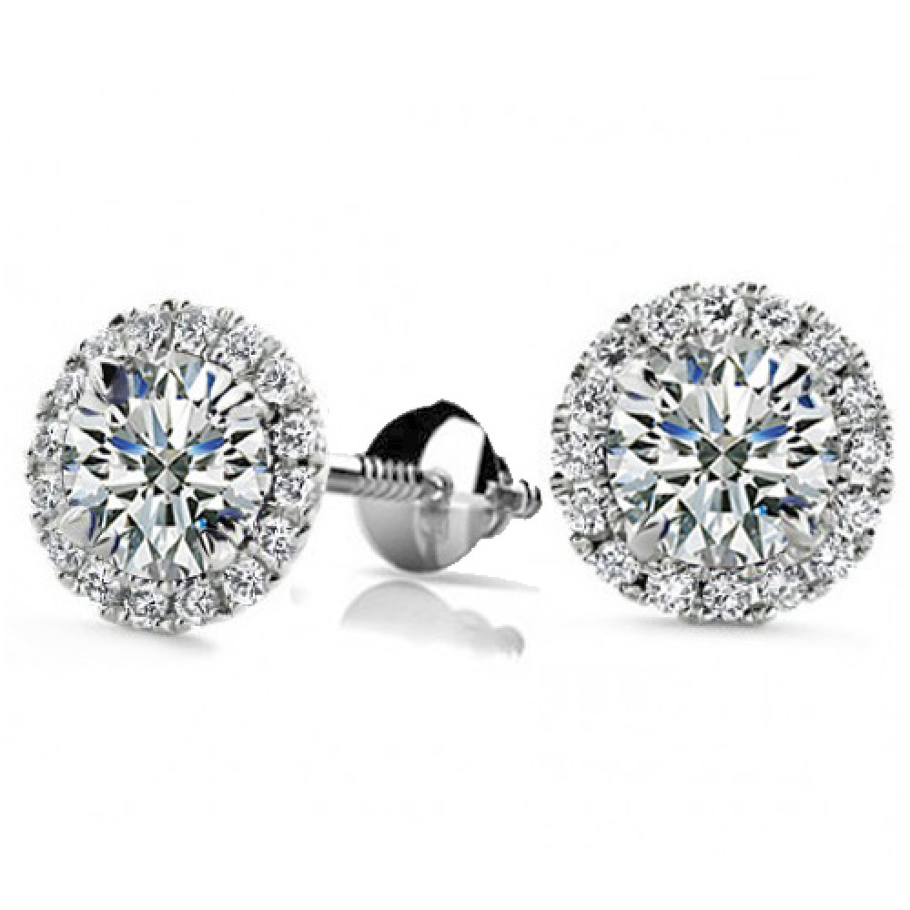 pid style earrings screwback round screw studs white basket carat diamond stud brilliant tw back e gold