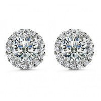 2.50 ct Round Cut Cubic Zirconia Stud Earrings in Screw Back