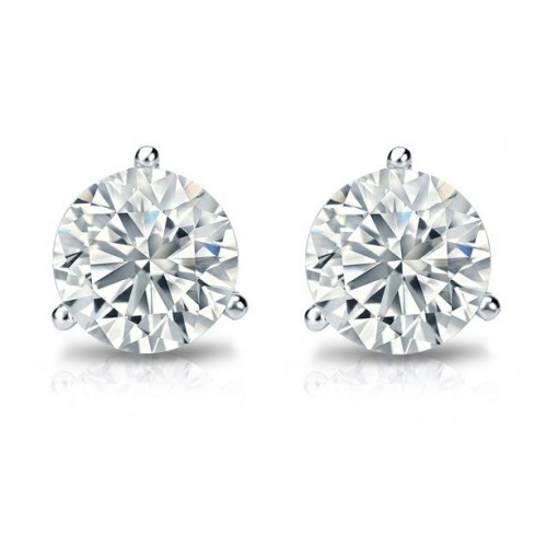 0.60 ct Martini Set Round Cut Diamond Stud Earrings