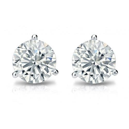 0.60 ct Martini Set Round Cut Diamond Stud Earrings