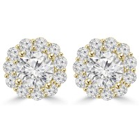 2.05 Ct Ladies Round Cut Diamond Stud Earring In 14 kt Yellow Gold