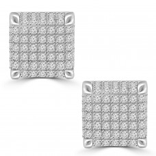 0.75 ct Round Cut Cubic Zirconia Stud Earrings in Screw Back