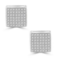0.55 ct Round Cut Cubic Zirconia Stud Earrings in Screw Back
