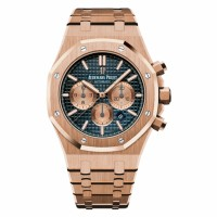 Audemars Piguet Royal Oak Automatic Rose Gold Blue Dial Watch 26331OR.OO.1220OR.01