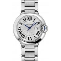 Cartier Ballon Bleu Guilloche Silver Dial Men's Dress Watch W69012Z4