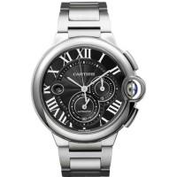Cartier Ballon Bleu Black Dial Chronograph Men's Watch W6920025