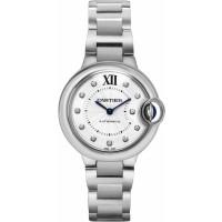 Cartier Ballon Bleu Steel Diamond Women's Watch WE902074