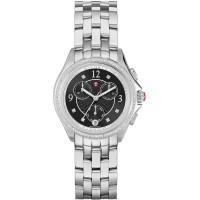 Michele Belmore Chrono Diamond Black Dial Ladies Watch MWW29B000004