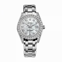 Pearlmaster 34 81159 White Gold Watch (White)