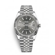 Rolex Datejust 41 Stainless Steel Rhodium Diamond Dial Jubilee Bracelet Watch