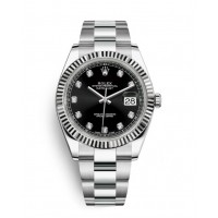 Rolex Oyster Perpetual Datejust 41 Watch Blue dial, Stainless Steel, Fluted bezel 126334