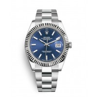Rolex Oyster Perpetual Datejust 41 Watch Blue dial, Stainless Steel, Fluted bezel 126334blio