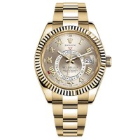 Rolex Sky-Dweller Silver Dial Automatic 18 ct yellow gold  Mens Oyster Watch
