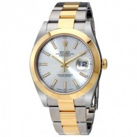 Datejust 41 Silver Dial Steel and 18K Yellow Gold Oyster Bracelet Men's Watch