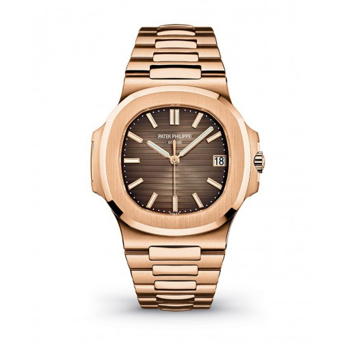PATEK PHILIPPE NAUTILUS BROWN DIAL 18K ROSE GOLD AUTOMATIC MEN'S WATCH 5711/1R-001