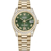 Rolex Datejust 31 Green Diamond Dial Watch 178158-GRNRP