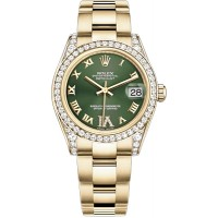 Rolex Datejust 31 Green Dial Yellow Gold Watch 178158-GRNRO