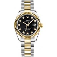 Rolex Datejust 31 Black Dial Women's Watch 178273-BLKDO