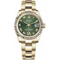 Rolex Datejust 31 Green Dial Gold Watch 178278-GRNRO