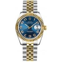 Rolex Datejust 31 Blue Dial Women's Watch 178273-BLUCAJ