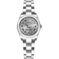 Rolex Oyster Perpetual 26 Rhodium Grey Dial Watch 176200-RHDSRO
