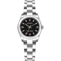 Rolex Oyster Perpetual 26 Black Dial Women's Watch 176200-BLKPSAO