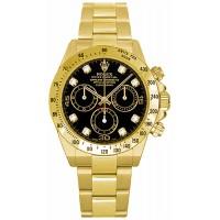 Rolex Cosmograph Daytona Diamond Dial Watch 116528-BLKD