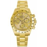 Rolex Cosmograph Daytona Champagne Diamond Dial Watch 116528-GLDD