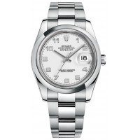 Rolex Datejust 36 White Dial Automatic Watch 116200-WHTADO