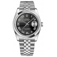 Rolex Datejust 36 Roman Numeral Dial Watch 116200-BKSRDJ