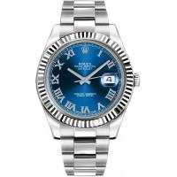 Rolex Datejust II 41 Blue Roman Numeral Dial Men's Watch 116334-BLURO