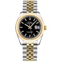 Rolex Datejust 31 Black Dial Two Tone Watch 178243-BLKSJ