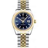 Rolex Datejust 31 Blue Dial Gold & Steel Women's Watch 178243-BLUS