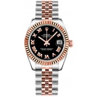 Rolex Datejust 31 Black Roman Numeral Dial Watch 178271-BLKRJ